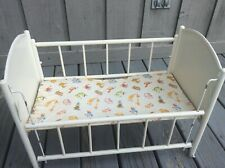 """Vintage Doll Baby Crib Bed - Side Rail Lowers - Fits dolls to 15"""""""