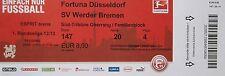 Ticket 2012/13 Fortuna Düsseldorf-werder bremen
