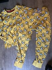 George children in need yellow pudsey pyjamas pjs age 5-6 years