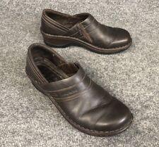 Josef Seibel Clog Womens Size 7.5M (EU 38) Brown Leather Side-Zip Slip-On Loafer