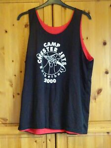 vintage reversible black/red one size chester jets basket ball t-shirt