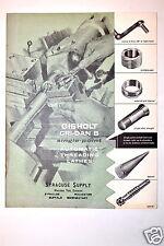 GISHOLT CRI-DAN B SINGLE-POINT AUTO THDREADING LATHE  CATALOG No.1266-A #RR289