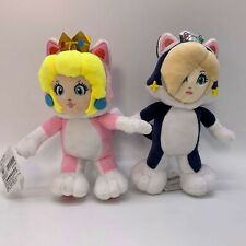 2X Super Mario Cat Princess Peach Rosalina Plush Doll Soft Toy Teddy 8.5""