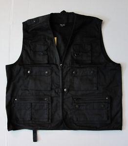 Jagd Weste Angelweste Mil Tec Schwarz 14 Taschen Ausverkauf 2XL / 3XL