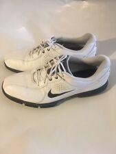 NIKE GOLF DURASPORT III 628527-101 White Black Golf Shoes Men's Sz  8