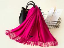 Grand Foulard/Hijab/Écharpe,Femme,100%Cachemire,Rouge-Pink,Tissu Fin,Chic,France