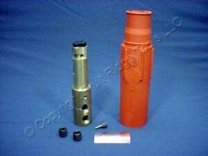 Leviton Orange 17 Series Male Cam-Type Plug Double Set Screw 690A 600V 17D22-O