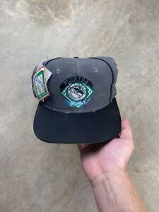Vintage 90s The Game MLB Florida Marlins 2 Tone Snapback Baseball Hat Cap