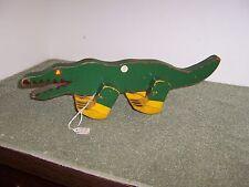 ANTIQUE 1920'S Wooden walking Alligator/Crocodile (RARE)