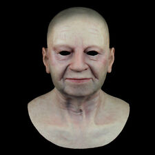 Old man silicone mask ULTRA REAL pull head overhead mask 4 disguise party