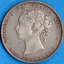 Canada Newfoundland 1899 N9 50 Cents Fifty Cents Silver Coin - Very Fine