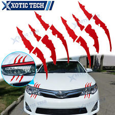 "9.4"" Red Monster Claw Scratch Decal Reflective Decal Sticker For Toyota Camry 86"
