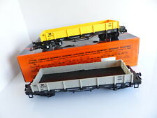 TRAIN ECHELLE G 757-5805 / 2 WAGONS PLAT A BOGIES