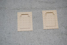 Lego Trap Door 6 x 8 Plate 30041 30042 Tan Lot 2 for 5988 5938 5919 7416 3722