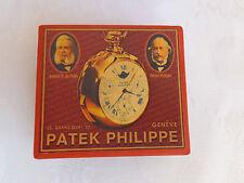 "VTG ADVERTISING SOUVENIR CARDBOARD BOX CASE FOR POCKET WATCH ""PATEK PHILIPPE"""