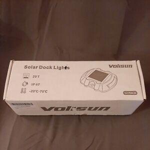 Volisun Solar Dock Lights 12 Pack NEW OPEN BOX