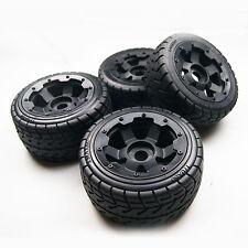 On-road Wheel Tire on 6 Spoke Wheels for HPI Baja 5B SS King Motor Buggy 4pcs