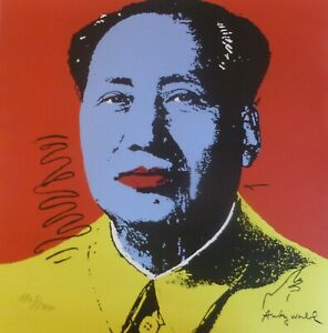 ANDY WARHOL MAO TSE TUNG SIGNED HAND NUMBERED ED 1803/2400 LITHOGRAPH 毛澤東 zedong