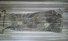 Dress mid length silver grey browns blacks pattern side zip 'MESCALINO'