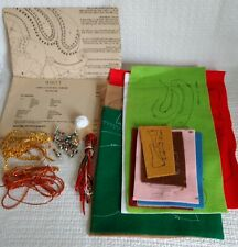 Vintage ~ Titan Needlecraft ~ SANTA SLEIGH WALL HANGING KIT ~ #93013 ~ Felt
