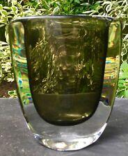 Vintage MCM Nils Landberg Orrefors Sommerso Dusk Ware Vase