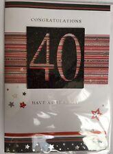 Complimenti 40-hanno un grande giorno - 3D 40th cartolina d'auguri buon compleanno