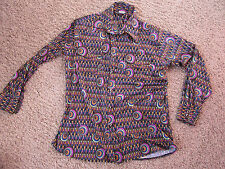 Vintage LEVI'S SILVER TAB psychedelic Colorful long sleeve button shirt L large