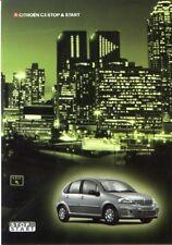 CITROEN C3 STOP & START BROCHURE 11/2004 1.4 16V
