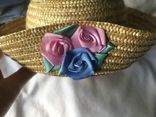 M&S Straw Hat For Young Girl. BNWOT. Ideal For Wedding/Occasion.