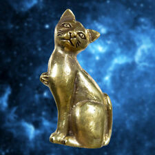 Wealth Cat Hunting Money Lucky Casino Brass Amulet Statue Magic Talisman Fetish