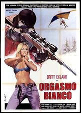 ORGASMO BIANCO MANIFESTO CINEMA SEXY 1974 THE ULTIMATE THRILL MOVIE POSTER 4F