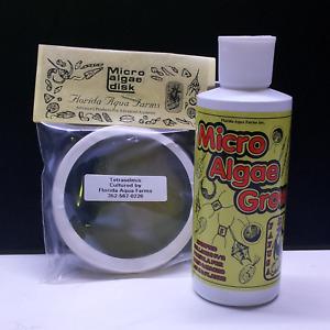 FLORIDA AQUA FARMS combo Tetraselmis disk and Micro Algae Grow F2 fertiliser