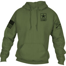 Grunt Style Army - Basic Full Logo Pullover Hoodie - Military Green