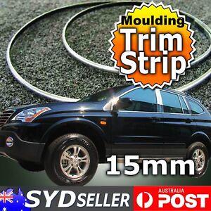 Auto SE Mouldings Trim Chrome Styling Sticky Strip Door Window Edges 15mm x 3Mtr