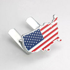 Car Auto Grill Grilles Badge United States American USA Land Flag Map Emblem