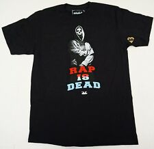 MUSA T-shirt RAP IS DEAD Tee Men MEDIUM Black 100%Cotton New
