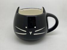Super Cute Black Cat Mug With Ears Kitten coffee Tea Cup 16oz Microwave Safe