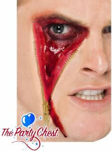HORROR ZIP FACE FX HALLOWEEN MAKEUP KIT Scary Zip Bloody Special FX Make up 5323
