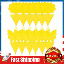 12 24 48 Pcs Sticky Fly Trap Paper Yellow Traps Fruit Flies Insect Glue Catcher