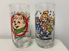 Chipmunks Glass 'Theodore' and a Chipettes Glass