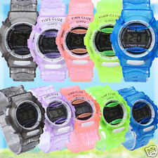 Hot Boys Girls Children Students Sport Waterproof Digital Rubber Wrist Watch New
