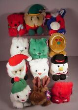 12 Puffkins Christmas & holiday stuffed animal toys Mint with Tags MWT Swibco