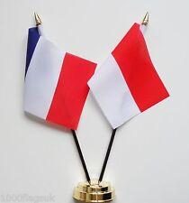 France & Monaco Double Friendship Table Flag Set