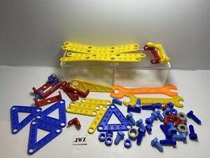Kids tool kit plastic nuts and bolts - Vintage