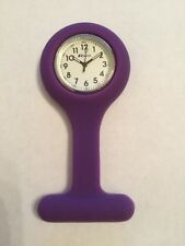 Ravel Ladies Gents  Purple Silicone Removable Case Pin Fob Watch  1103.7