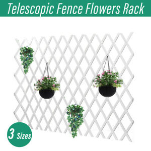 Lattice Telescopic Wood Fence Anticorrosive Wedding Party Wall Garden Decor