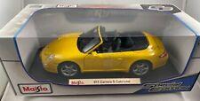 Maisto Porsche 911Carrera S Cabriolet,1:18 Diecast Car (Yellow), Special Edition