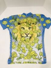 PRIMAL WEAR DANDY LION BIKE CYCLING JERSEY POLY 3/4 ZIPPER MULTI-COLOR WOMEN LG