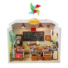 Dollhouse Miniature DIY Kits House Room with Furniture+Cover Gift Classmates