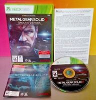 Metal Gear Solid V Ground Zeroes Microsoft Xbox 360 Game Complete Near Mint Disc